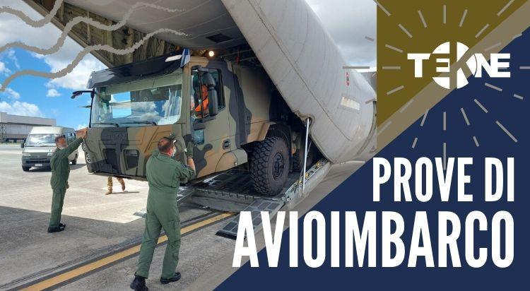 Prove di Avioimbarco per lo Shelter Carrier Truck di Tekne